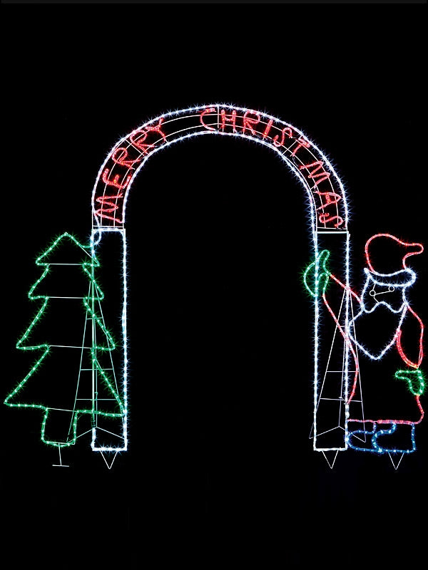 260 x 230cm Santa Tree Archway with 672 Multi LEDs