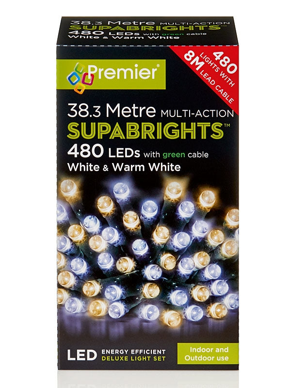 480 LED Multi-Action Supabrights - Warm White & White