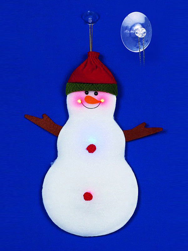32cm Battery Operated Cotton Snowman Hanging Decoration