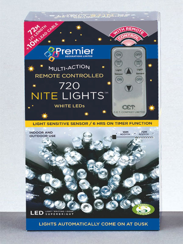 720 LED Multi-Action Nite Lights with Remote - White