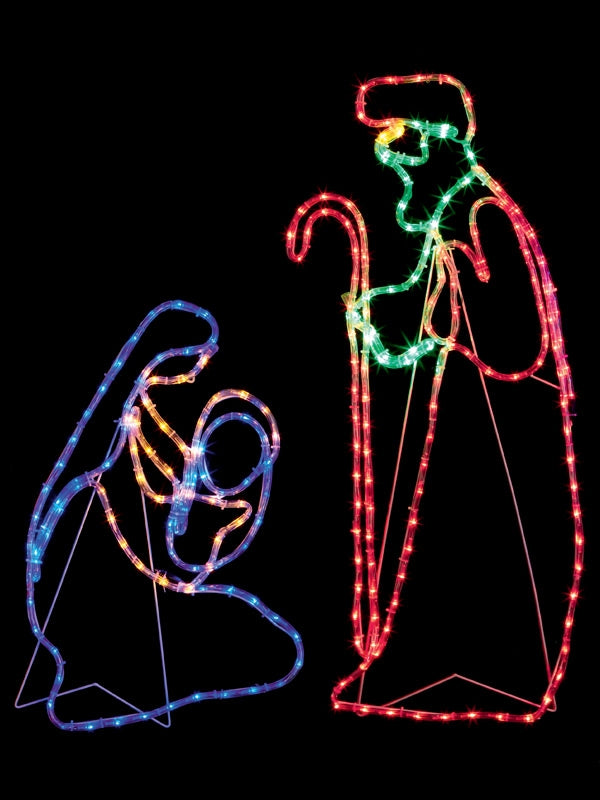 1M Nativity Scene Rope Light Silhouette with 264 Multi-colour LEDs