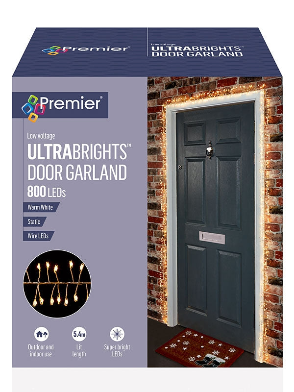 Ultrabrights Door Garland with 800 LEDs - Warm White