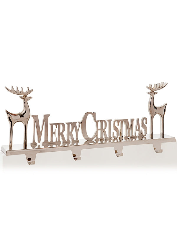 50 x 18cm Merry Christmas with Reindeers - 4 Stocking Holder