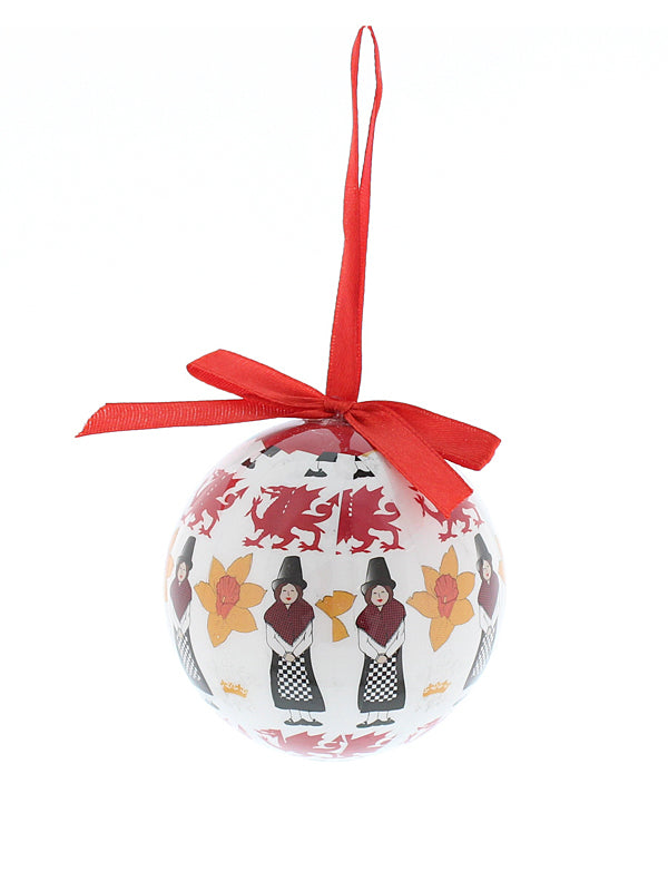 7cm Decoupage Welsh Icon Tree Decoration