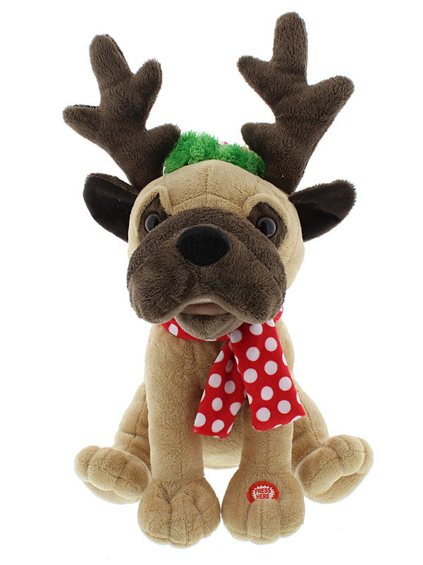 Animated Dog With Antlers