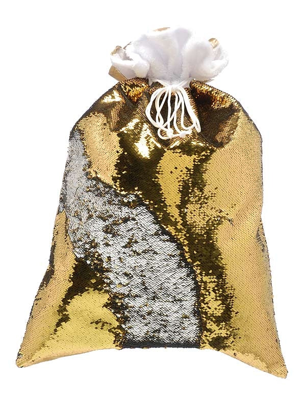 70cm Gold And Silver Sequin Sack