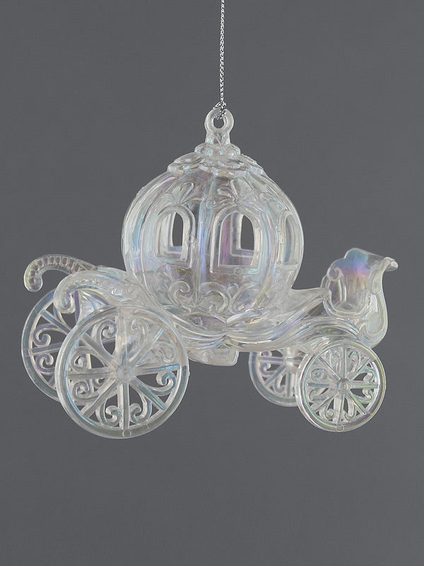 12cm Clear Iridescent Carriage