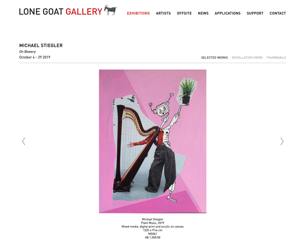 Lone Goat Gallery - On Bowery October 4-29