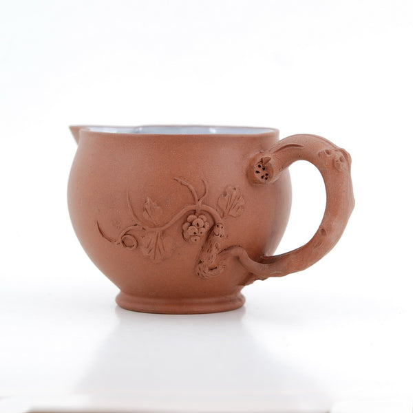 1980's Chinese Yixing Squirrel and Graps Fair Cup Pitcher
