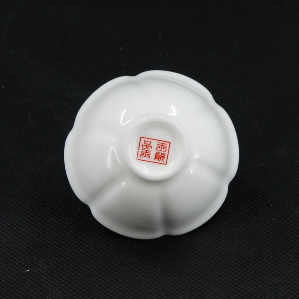 Porcelain White Color Flower Shape Tea Cup