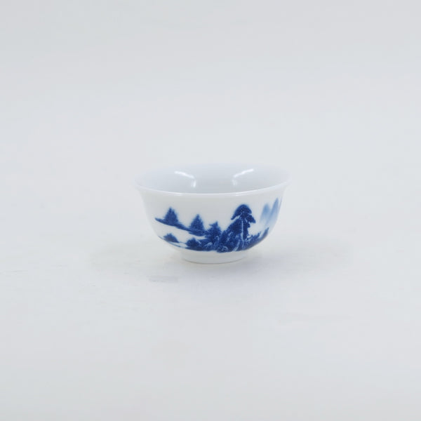 Porcelain Blue And White Landscape Tea Cup