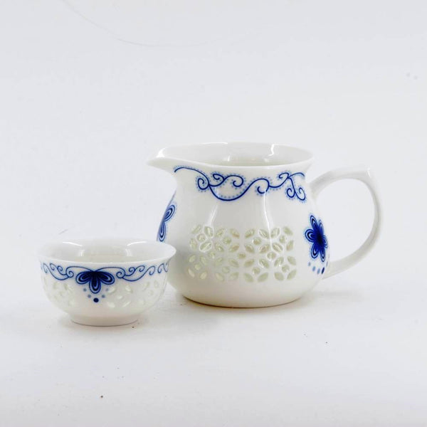 Porcelain Blue And White Rice Grain Tea Cup