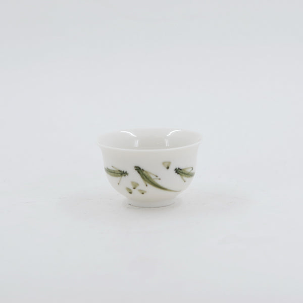 Porcelain Green Fishes Tea Cup
