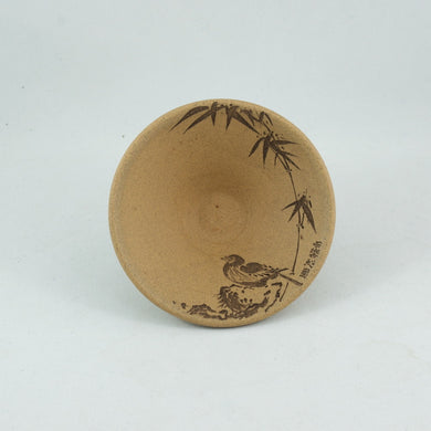 Yixing Duan Ni Clay Hand Carved Cha Zhan Tea Cup