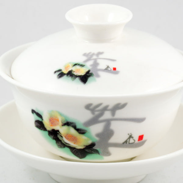 Porcelain Tea Flower Design Gaiwan
