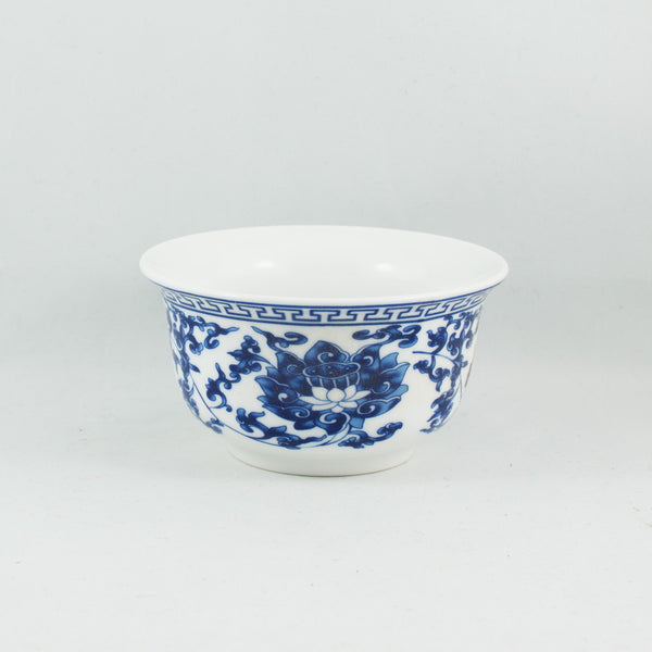 Blue and White Porcelain Chan Zhi Lian Design Gaiwan