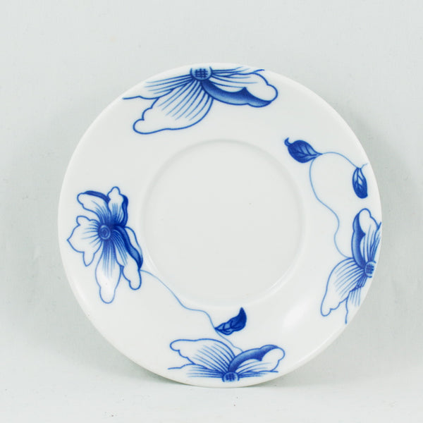 Blue and White Porcelain Flower Design Gaiwan