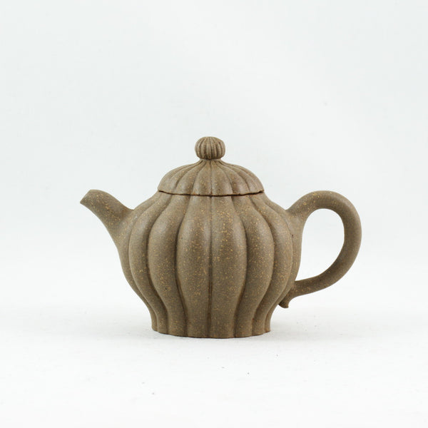 Yixing Miniature Duan Ni Chrysanthemum Shape Chinese Teapot
