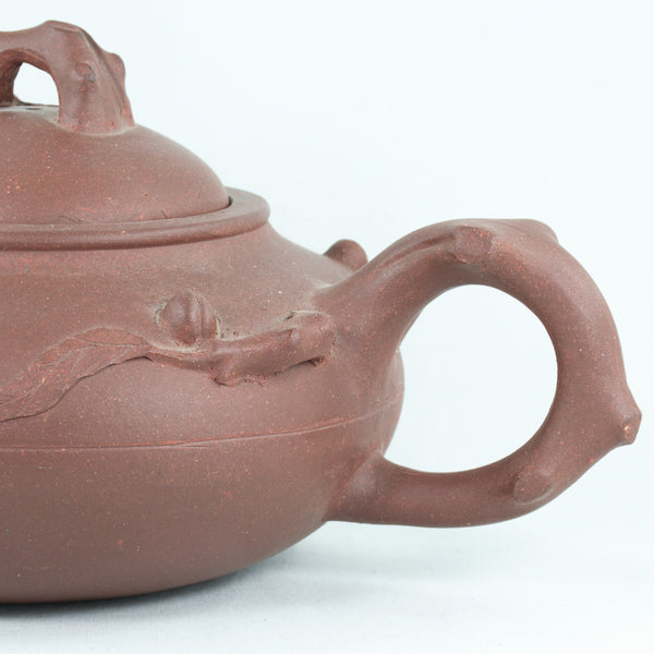 Yixing 1960's Peach Decorating Chinese Teapot