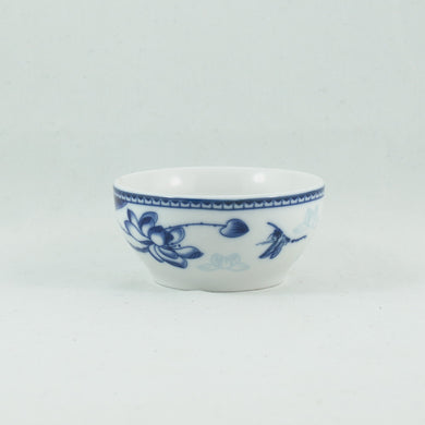 Porcelain Blue And White Lotus and Dragonfly Tea Cup