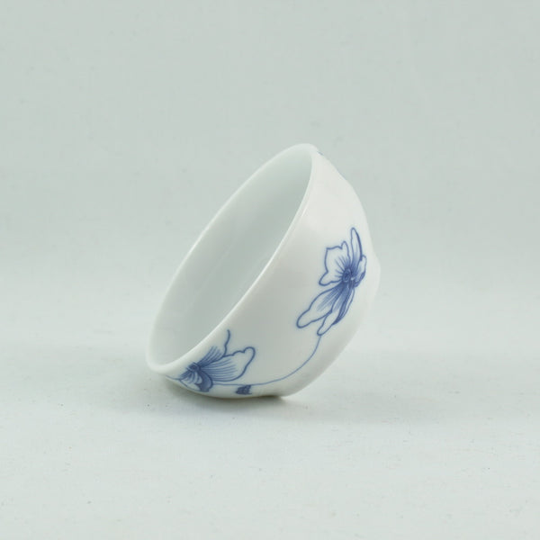 Porcelain Blue And White Flower Tea Cup