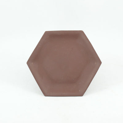 1990's Yixing Clay Hexagon Saucer