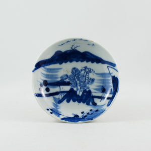Antique Chinese Porcelain Blue and White Landscape Saucer #2