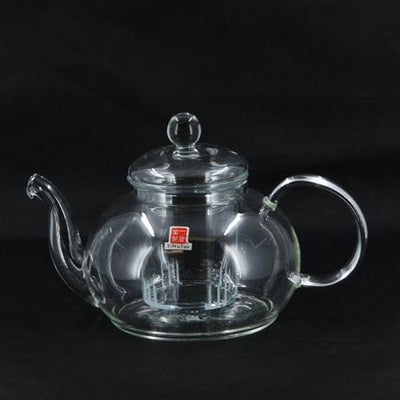 Modern Large Glass Teapot With Glass Strainer