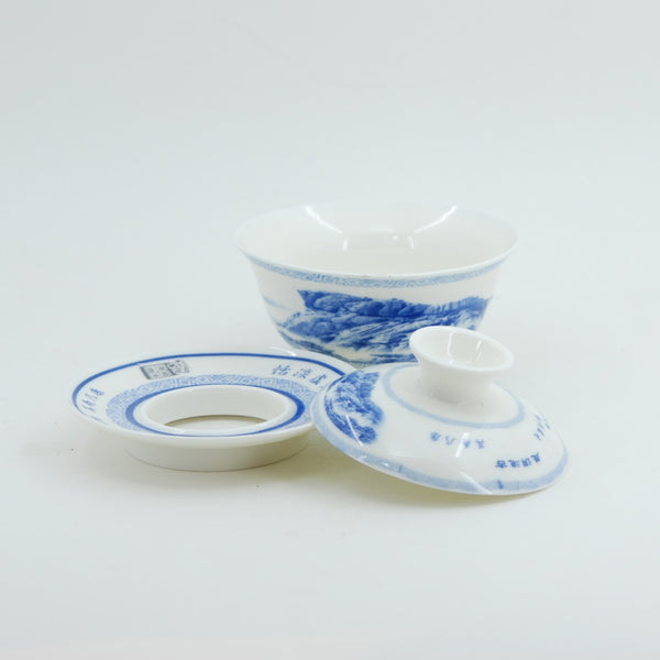 Blue and White Porcelain Landscape Design Gaiwan