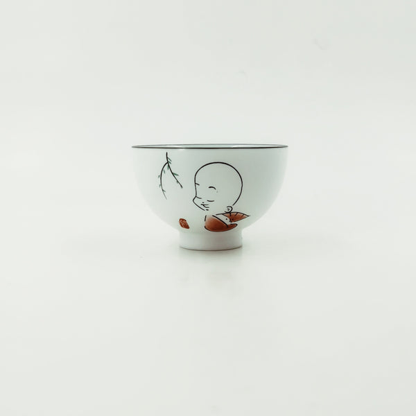 Chinese Zen Boy Porcelain Tea Cup