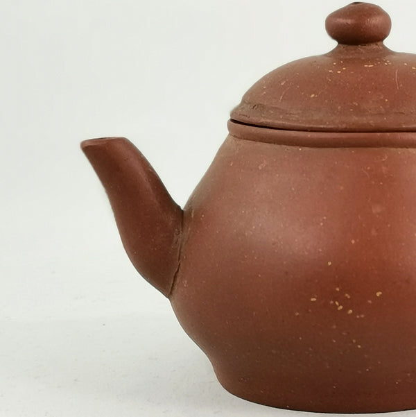 Antique Yixing 19th Century Zini Pear Shape Bright Stars On The Sky Chinese Teapot