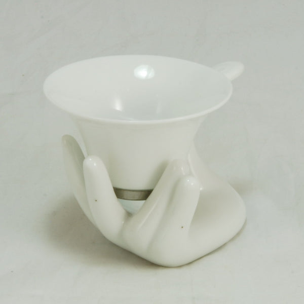 Porcelain Hand Shape Tea Strainer/ Filter