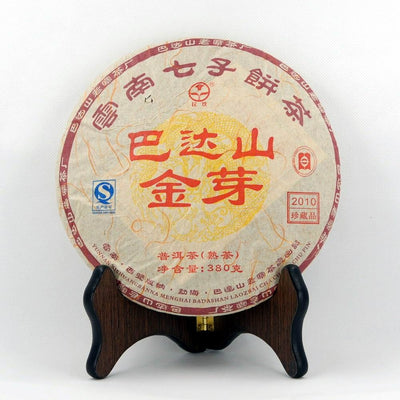Bada Mountain Golden Tips Pu-Erh Tea Cake (Shou/Ripe)