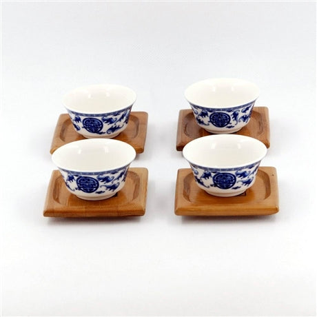 Square Shape Bamboo Saucer For Tea Cup