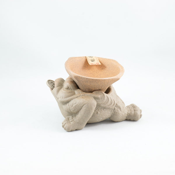 Clay Three Legs Frog Tea Strainer/ Filter