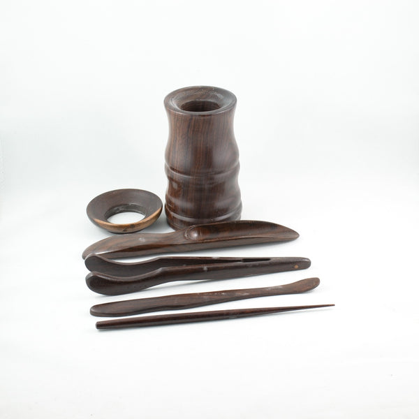 Chinese Cha Dao Dark Rosewood Tea Utensils C3