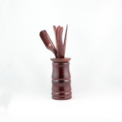 Chinese Cha Dao Red Wood Tea Utensils C5