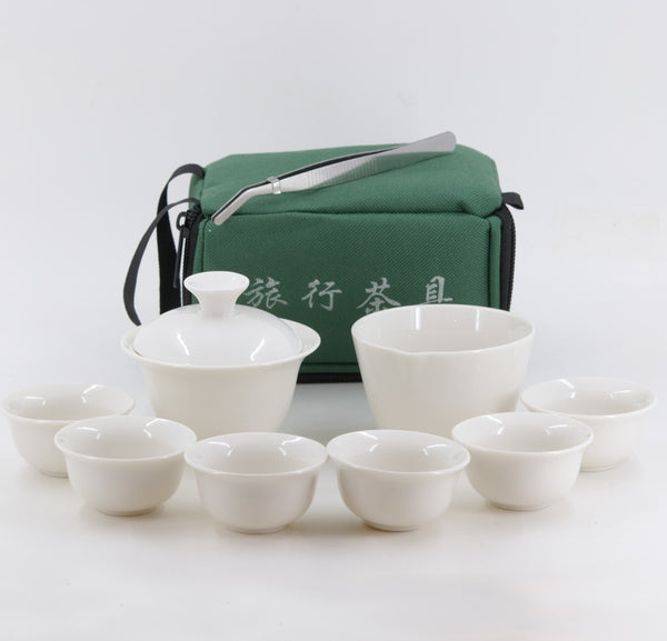 Porcelain Traveling Tea Set