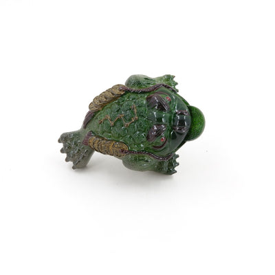Allochroic Changing Color Tea Pet -- Jade Color Three Legged Toad With Coins