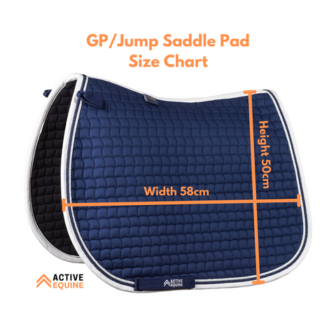 GP/Jump Saddle Pad Size Chart | Active Equine