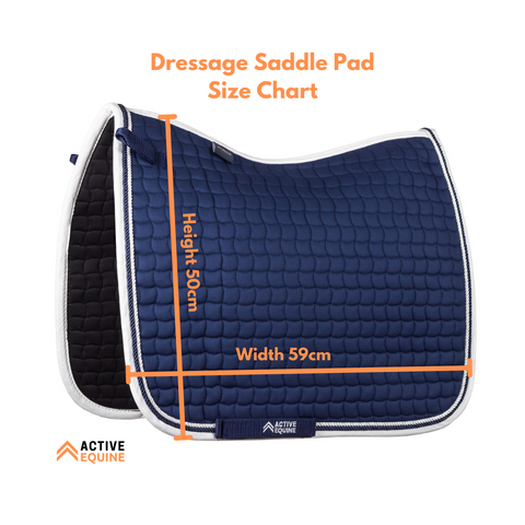 Dressage Saddle Pad Size Chart | Active Equine