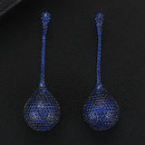 Corinna Drop Earrings in Blue Glory