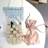 Clustered Pearl Evening Bags