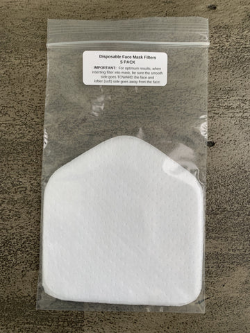Disposable Face Mask Filters for Surgical Style Mask - 5 PACK