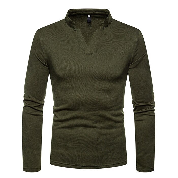 Long Sleeve Slim Fit Polo Shirt