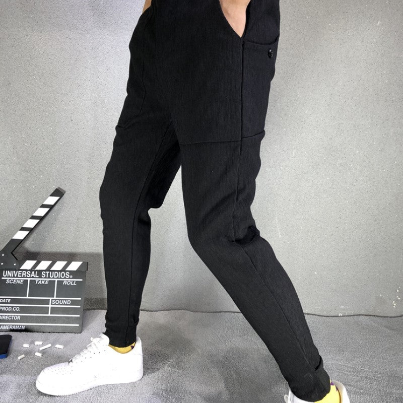 Pure Black Casual Pants