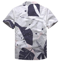 Abstract Flower Button Shirt