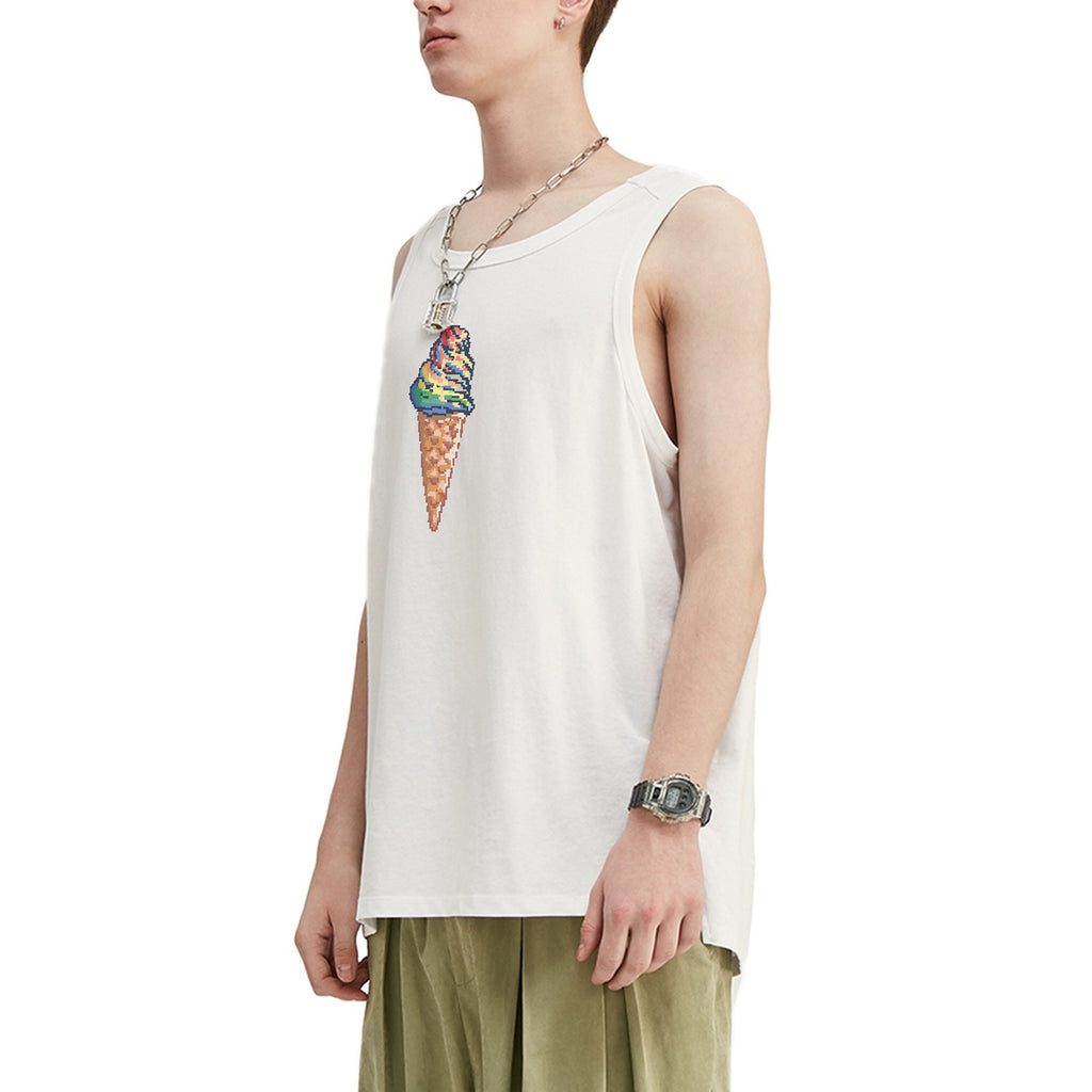 Pixelated Unicream Oversized Tank Top