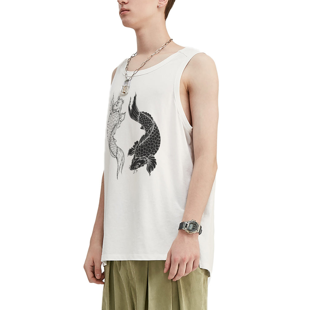 Koi Balance Oversized Tank Top