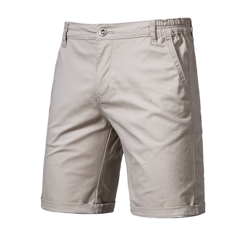Solid Knee Length Shorts